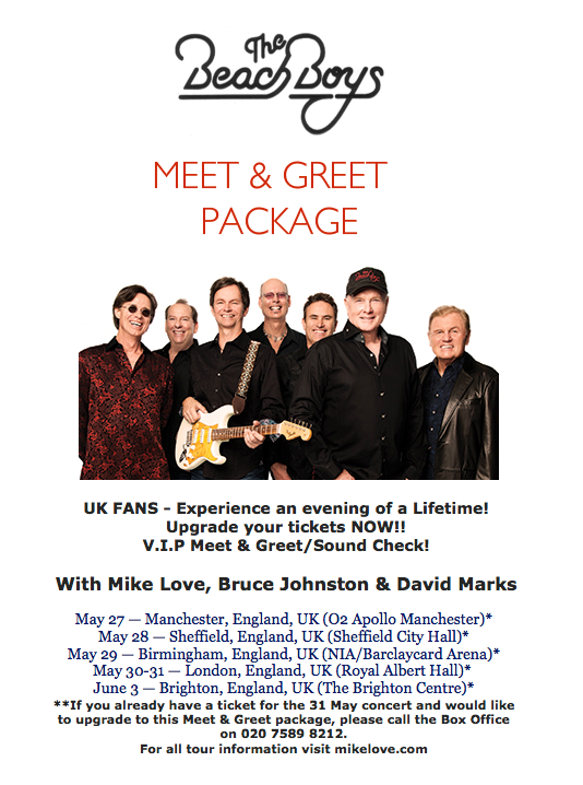 meet and greets with the beach boys